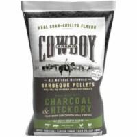 Cowboy Charcoal and Hickory Wood Pellet Fuel 20 lb. - Case Of: 1;
