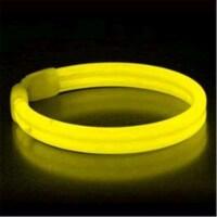 Blinkee 1145055 Wide Glow Stick 8 in. Bracelet, Yellow - Pack of 30 - 1