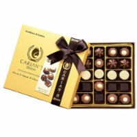 Assorted & Dark Chocolate Truffles box with Royal Ribbon - Count