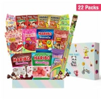 Haribo Gummy Candy Snack Box Care Package - 22 Pack