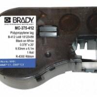 Brady Cartridge Label,240 In. W,3/8 In. L  MC-375-412 - 1
