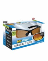 HD Vision +2.0 Magnification Sunglass Readers - Black