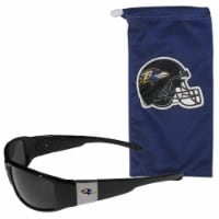 Baltimore Ravens Chrome Wrap Sunglasses and Bag Set - 1 ct