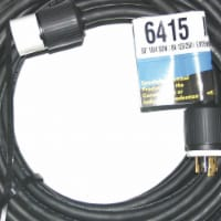 Cep Extension Cord,50ft,10Ga,30A,SOW,Blk  6415 - 1