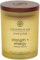 Chesapeake Bay Candle Mind and Body Strength and Energy Jar Candle - Frosted Yellow