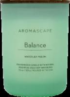 Aromascape Balance Waterlily Melon Jar Candle - Green - 7.8 oz