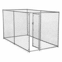 Lucky Dog 10' x 5' x 6' Heavy Duty Steel Outdoor Chain Link Dog Kennel Enclosure - 1 Unit