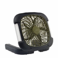 O2 Cool 12.01 in. H x 10 in. Dia. 2 speed Battery Portable Camping Fan With Lights - Case Of: - Count of: 1