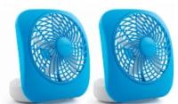 Treva 5  Battery Powered Desk Fan, 2 Pack, Light Blue - 2