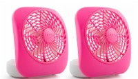 Treva 5  Battery Powered Desk Fan, 2 Pack, Raspberry - 2