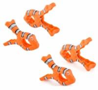 Boca Clips® Towel Clips, 4 Clips, Clown Fish - 2