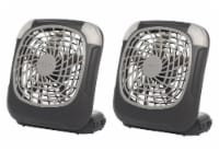 Treva 5  Fan Battery Powered Fan With Lights, 2 Pack, Grey - 2