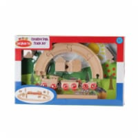 Omni Wooden Toys 964015NC Non Color Decorate Your Own Train Set - 23 Piece - 23