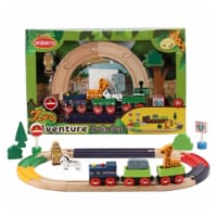 Omni Wooden Toys 964015Z Zoo Adventure Train Set - 22 Piece - 22