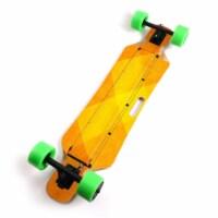 MightySkins BLIHU-Orange Texture Skin for Blitzart Huracane 38 in. Electric Skateboard - Oran - 1