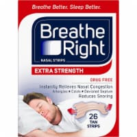 Breathe Right Extra Strength Tan Nasal Strips