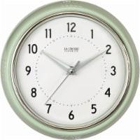 La Crosse® Technology Pistachio Diner Wall Clock - White