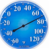 La Crosse Technology 104-1512A 5 in. Indoor & Outdoor Dial Thermometer Weather Station, Blue