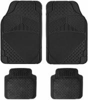 Pilot Automotive Roadwear Stain Resistant Carpet and Rubber Floor Mats - Black - 4 pc
