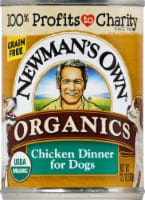Newman's Own Organics Grain Free Chicken Dinner Premium Wet Dog Food