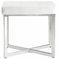 Carolina Classics Summer Vanity Bench White/Chrome - 1