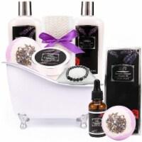 Lavender Spa Gift Basket. 11 PC Bath and Body Spa Set. - 1