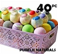 Bath Bombs Gift Baskets for Women! Basket of 40 Moisturizing Spa Fizzers Lush Bath Bombs - 1