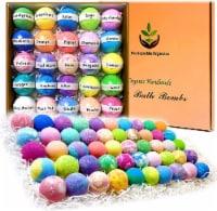 Bulk Bath Bombs Gift Set. 50 Organic & Natural Individually Wrapped Bath Balls. - 1
