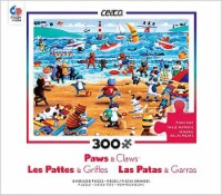 Ceaco Paws & Claws - Beach Cats Puzzle - 300 Pieces
