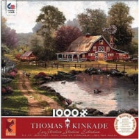 Ceaco Thomas Kinkade 1000 Piece Jigsaw Puzzle - Red Barn Retreat - 1