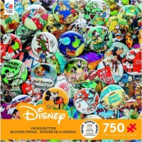 Ceaco Disney Collections Vintage Buttons Jigsaw Puzzle 750 Pieces Multi-colored