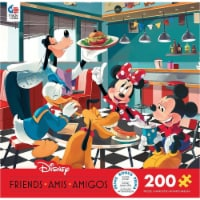 Ceaco 200 Piece Disney Friends - Disney Diner Jigsaw Puzzle, Kids and Adults