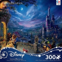 Ceaco Thomas Kinkade Disney Dreams - Beauty and The Beast in The Moonlight Puzzle, 300 Pieces - 1