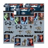 Star Wars The Saga Sticker Sheets [3 Packs of 4 Sheets Ea]