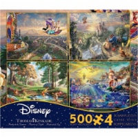 Thomas Kinkade Disney Jigsaw Puzzle - 4 Pack - 500 Pieces - No. 036672