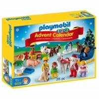 Playmobil 1.2.3 Advent Calendar Christmas on the Farm Building Set