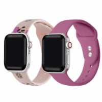 2-Pack of Silicone Bands for Apple Watch Series 1,2,3,4,5,6,7 & SE - Size 38mm/40mm - 38mm/40mm