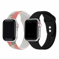 2-Pack of Silicone Bands for Apple Watch Series 1,2,3,4,5,6 & SE - Size 42mm/44mm - 42mm/44mm