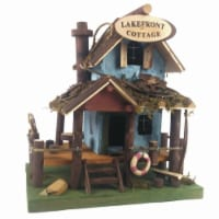 Land & Sea Lake Front Cottage Fairy Garden & Bird House