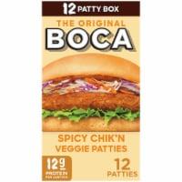 Boca Spicy Chik'n Vegan Veggie Patties Jumbo Pack - 12 ct / 30 oz