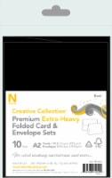 Neenah Creative Collection Folded Card & Envelope Sets - Black
