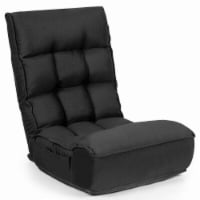 Gymax 4-Position Floor Chair Folding Lazy Sofa w/Adjustable Backrest & Headrest - 1 unit
