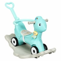 Gymax Baby Rocking Horse 4 in 1 Kids Ride On Toy Push Car w/ Music Indoor Outdoor Gift - 1 unit