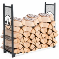 Gymax 4ft Firewood Log Heavy Rack Duty Log Storage Holder for Fireplace Stove Fire Pit - 1 unit