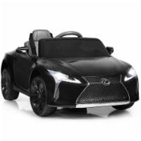 Gymax 12V Licensed Lexus LC500 Kids Ride On Car w/ MP3 Remote Control Black/Red/White - 1 unit