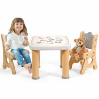 Gymax Kids Table & 2 Chairs Set Adjustable Activity Play Desk w/Storage Drawer - 1 unit