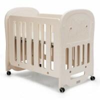 Gymax 3-in-1 Baby Bed Crib w/ 2'' Mattress Convertible Toddler Playard & Rocking Crib - 1 unit