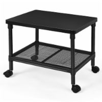 Gymax 2-Tier Under-Desk Printer Stand Rolling Fax Cart w/ Storage Shelf & Swivel Wheel - 1 unit