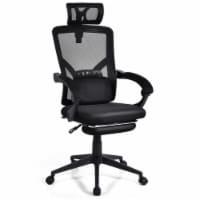 Gymax High Back Office Recliner Chair Adjustable Headrest w/ Footrest & Lumbar Pillow - 1 unit