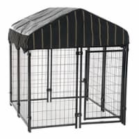 Lucky Dog 4' x 4' x 4.5' Uptown Welded Wire Dog Kennel w/ Waterproof Cover - 1 Piece